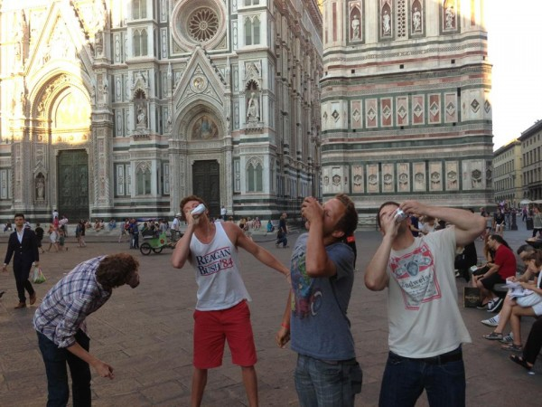 Showing Italy how America celebrates Independence. TFM.