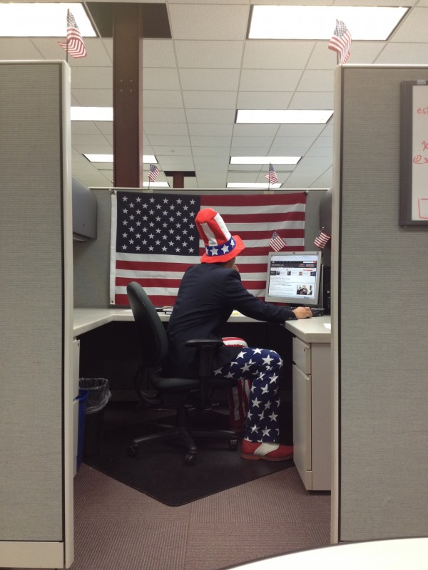 Celebrating Independence Day at the internship. TFM.