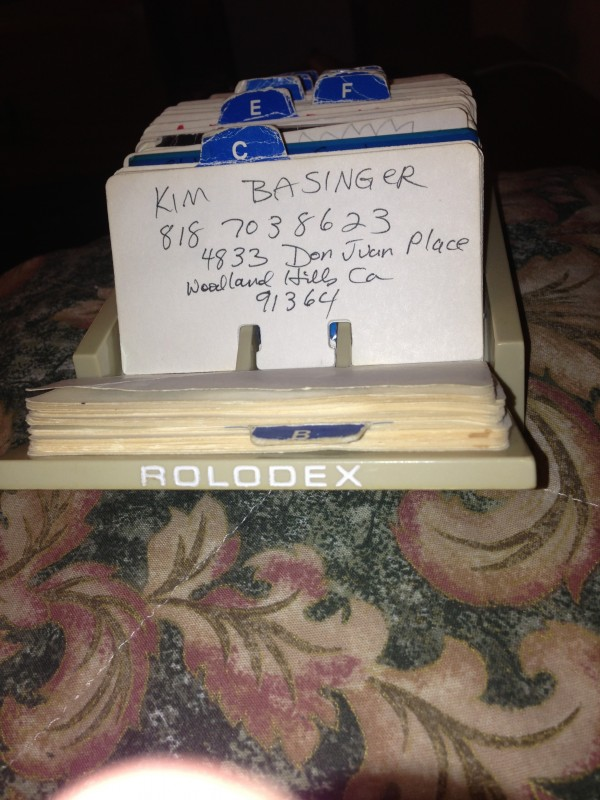Finding this in your uncle's Rolodex from the '80s. TFM.