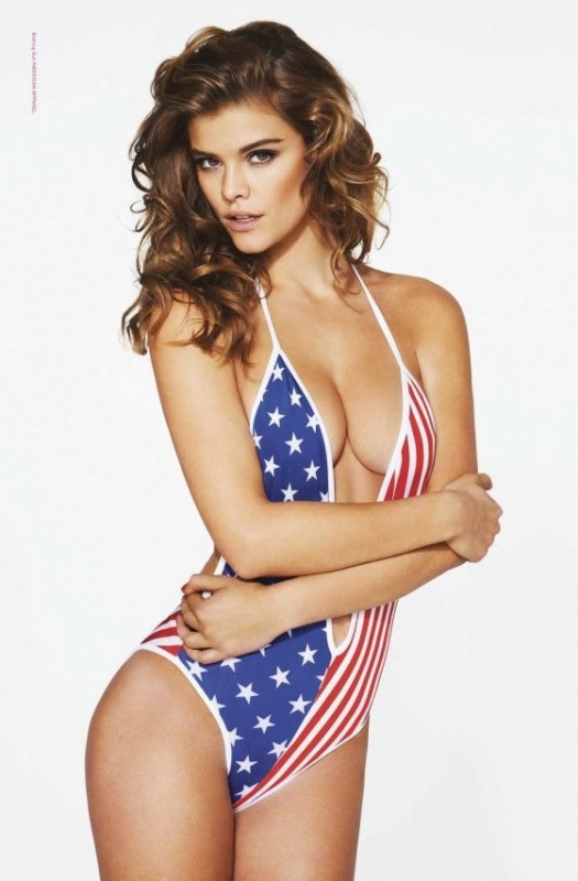 Nina Agdal saying happy birthday America. TFM.