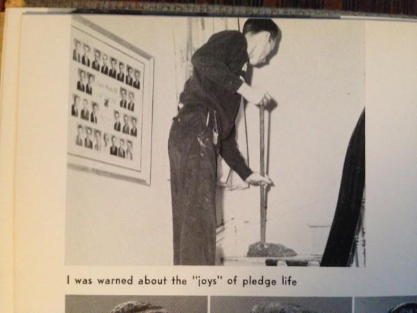 The joys of pledge life. TFM.