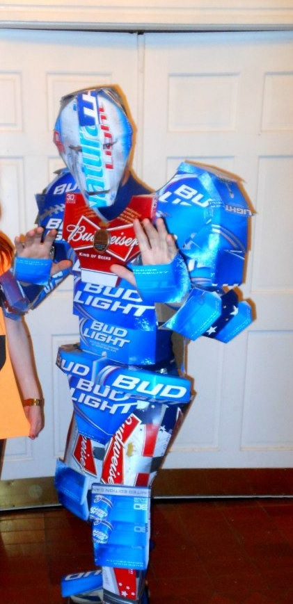 Drinking the beer to make the costume was half the fun.