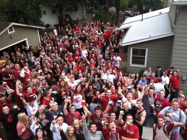 Pi Kapp and Theta Chi game day at WSU. TFM.