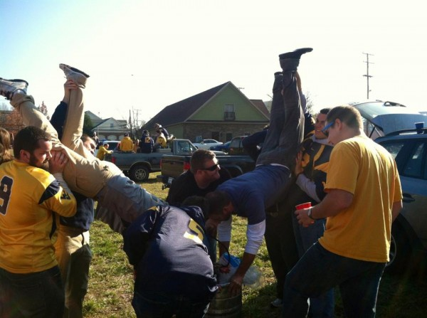 Kegstand Competition WVU. TFM.