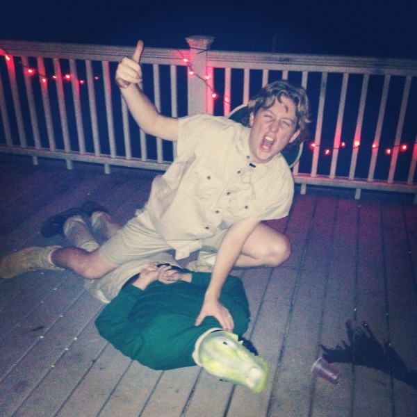 Stevie Irwin and his crocodile pledge.