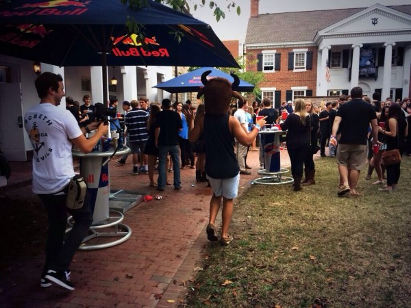 Red Bull throwing your fraternity a tailgate. TFM.
