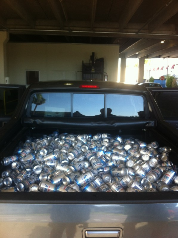 Just a few beers on game day. TFM.