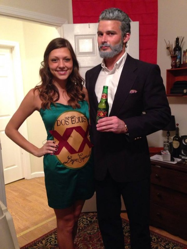The Most Interesting Man In The World and his favorite beer.