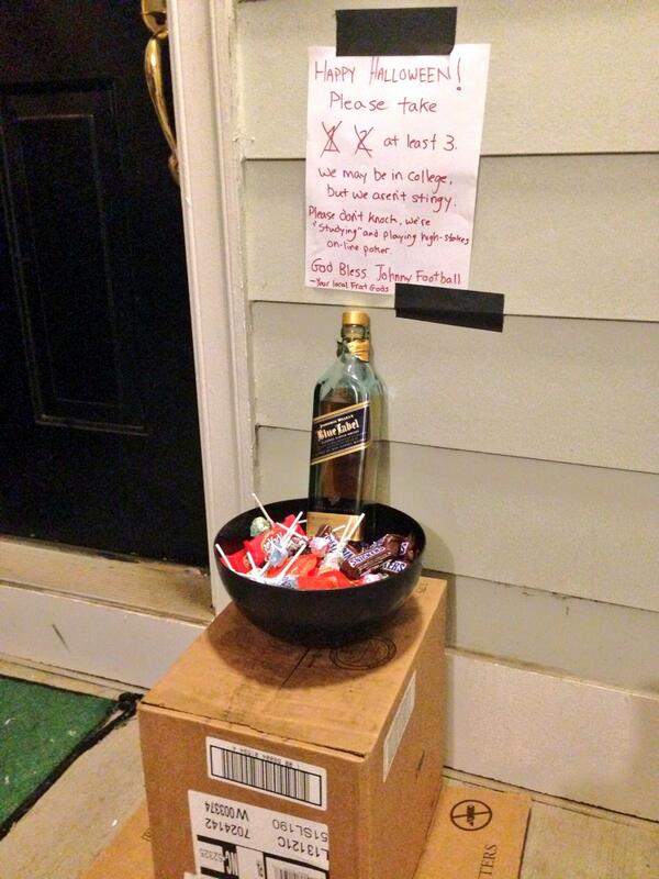 Box. Bowl. Candy. Blue Label. Happy Halloween. TFM.