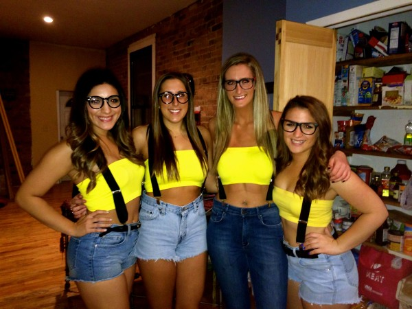 Having the cutest minion costumes at the bar. TSM.