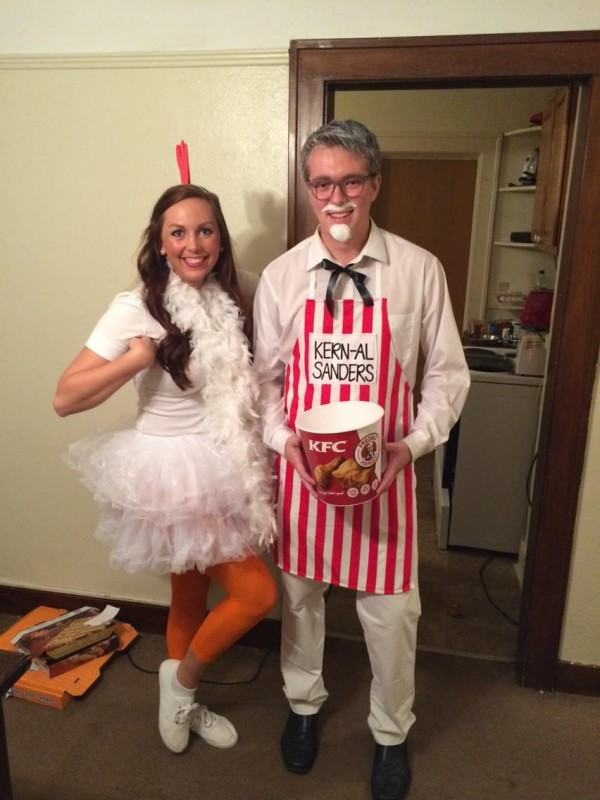 When a last name like Kern, you have no choice but to dress up as the chicken king himself.