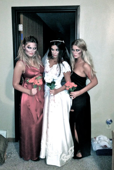 Just my main bitches and I on the big day!