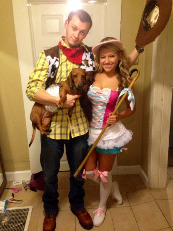 Little Bo Peep may have lost her sheep, but she found Woody and Slinky Dog.