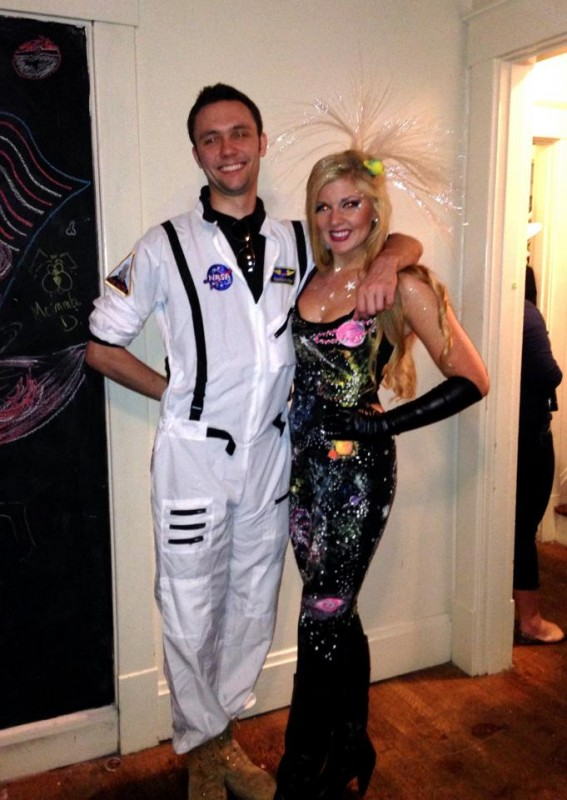 Outer Space with an Astronaut. Halloween Date Party was out of this world!