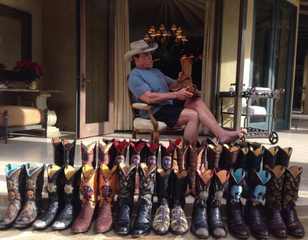 Total Frat Move | Arnold Schwarzenegger's boot collection. TFM.