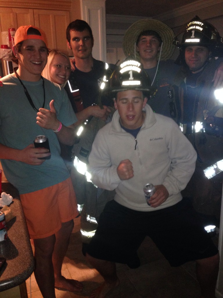 Partying with the Panama City fire department. TFM.