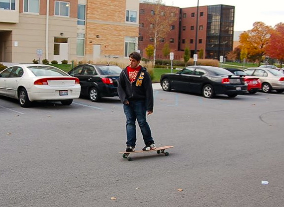 Just cruisin' on my longboard, bra.