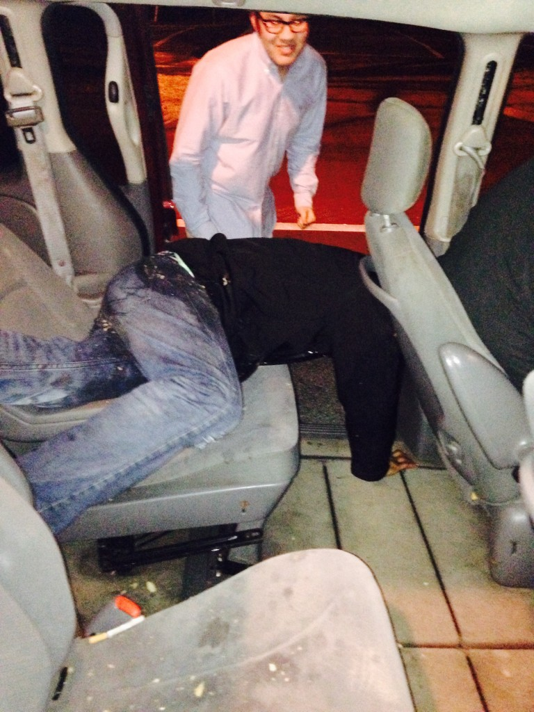That cab ride didn't go well.