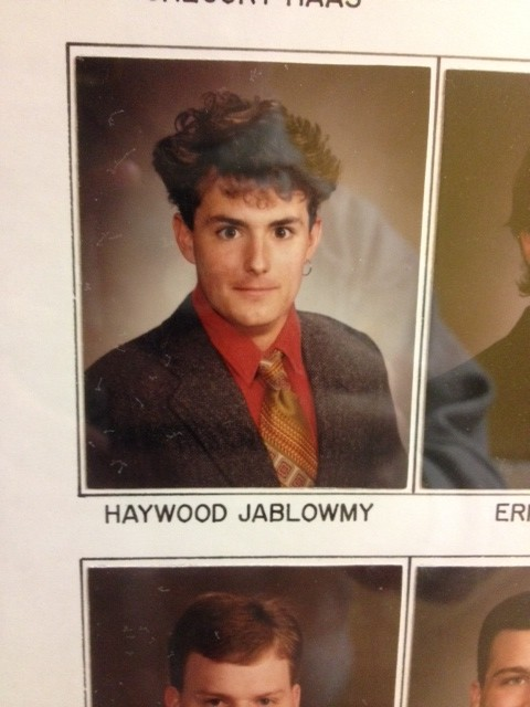 Haywood Jablowmy is rocking a single hoop earring like Michael Jordan.