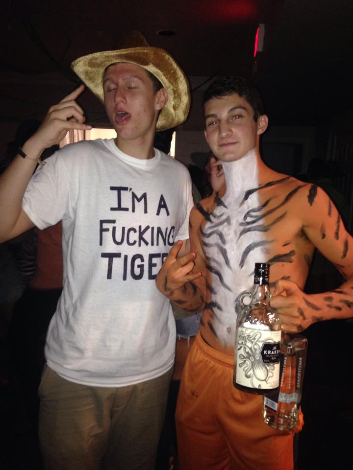 Actually HE'S a tiger. You're just a guy in a white tee with a stupid face.