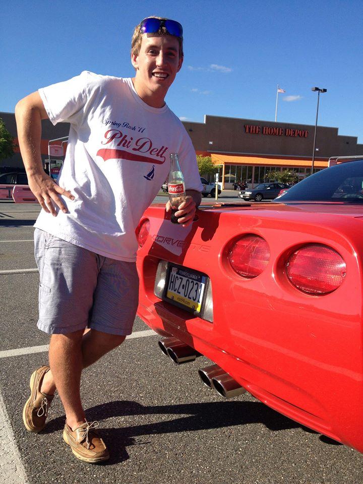 Corvette, glass bottle Coke, boat shoes, Home Depot parking lot. TFM.
