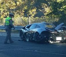 McLaren P1 Wrecked