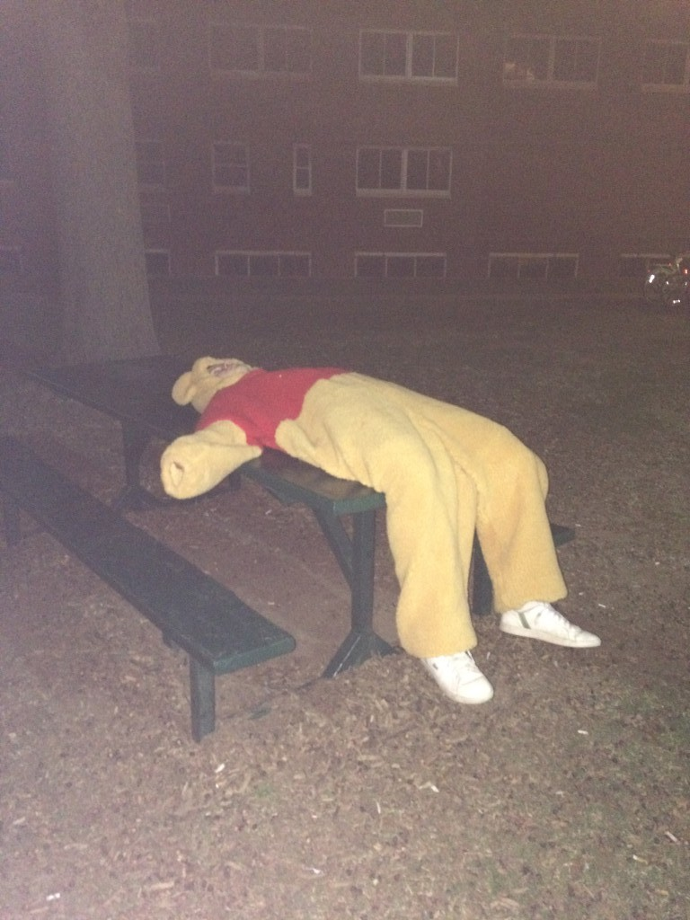 Pooh down.