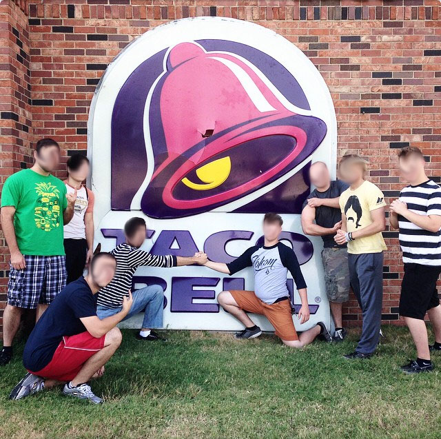 Looks like these goobers got themselves a Taco Bell sign.