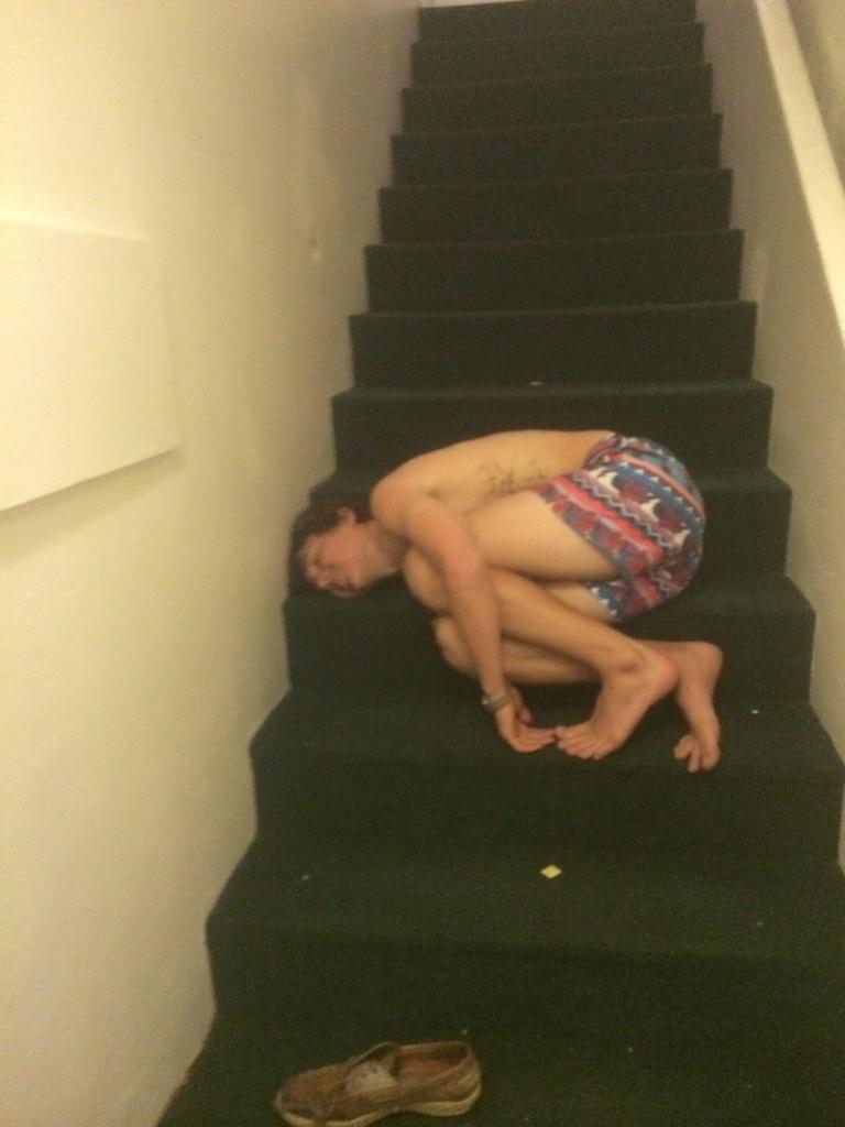On Wednesdays we sleep on the stairs.
