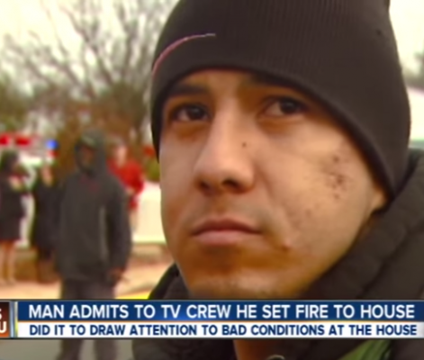 Moron Admits To Burning Down House During Live Report