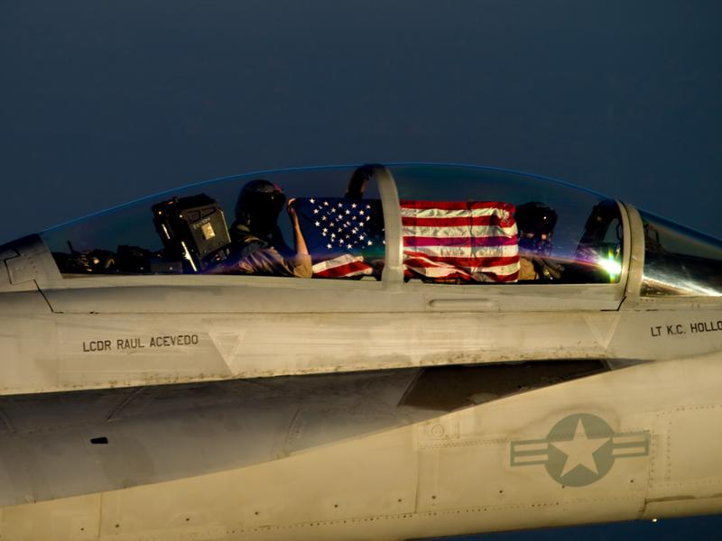 Making sure the last thing ISIS sees is Old Glory. TFM.