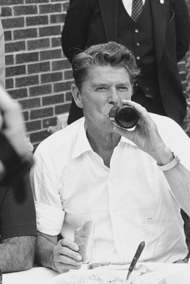 Ronald Reagan Enjoying Some Freedom