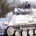 Dad Of The Year Drops His Kids Off At School In Real Military Tank