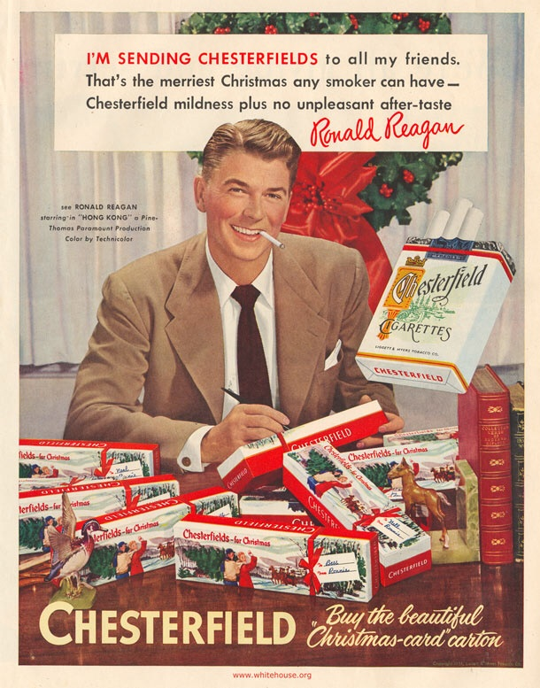 Ronald Reagan's idea of giving Christmas presents. TFM.