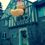 Putting up a Christmas duck and having the pledges defend it. TFM.