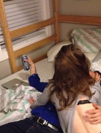 Always keeping a strong hold on your beer. TFM.