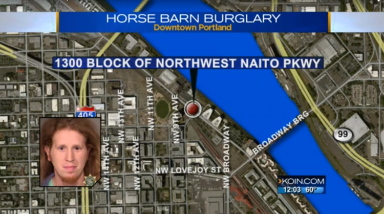 Blacked Out Portland Man Couldn't Remember If He Liberated A Stable Of Police Horses