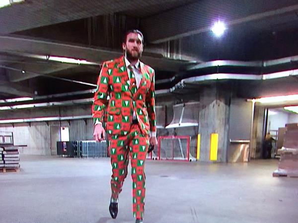 Spencer Hawes and his Christmas outfit. TFM.