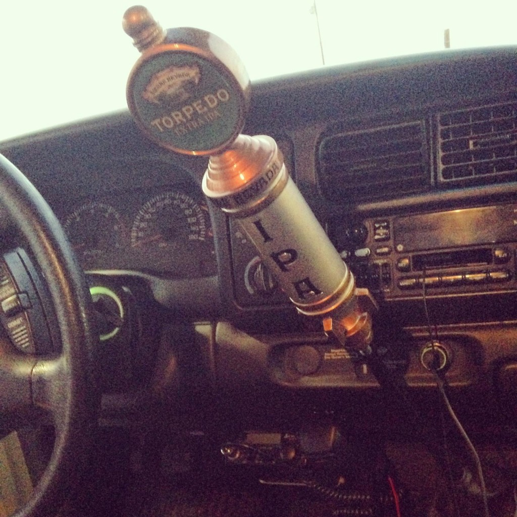 Using a beer tap as your new shifter. TFM.