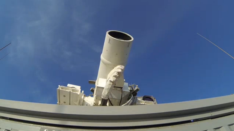 The U.S. Navy Shows Off Their New Laser Gun, Terrorists Everywhere Head To Hiding Spots