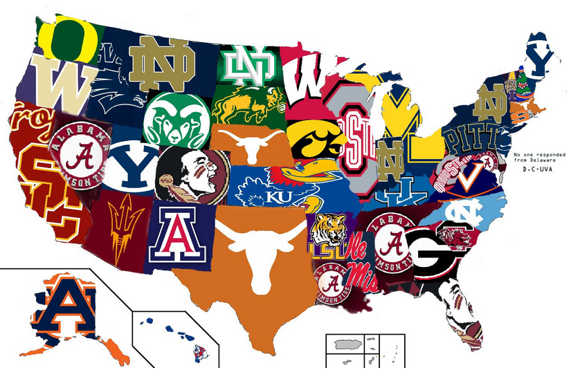 Most Hated College Football Teams In Each State