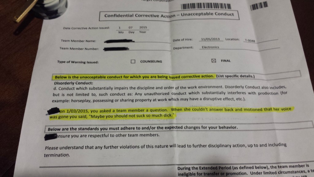 """Guy Tells His Co-Worker To """"Not Suck So Much Dick,"""" Only Gets A Written Warning"""