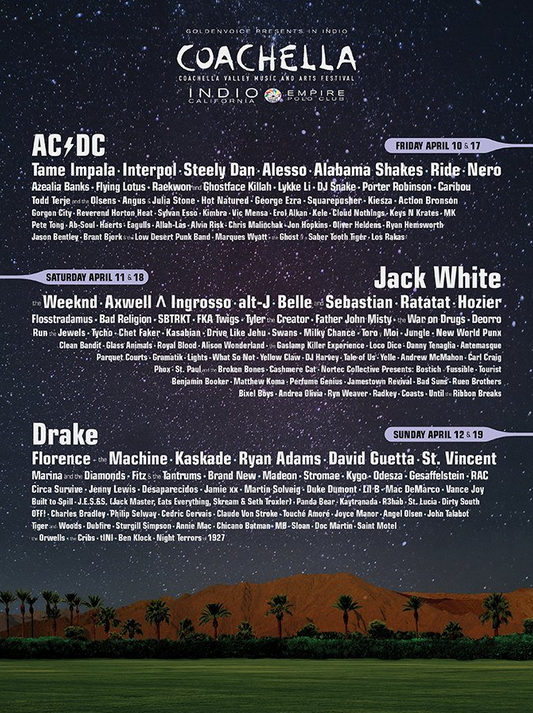 The Lineup For Coachella 2015 Was Just Released, It's Pretty Epic