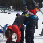 The post ski run keg stand. TFM.