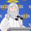 God Takes The Podium On Super Bowl XLIX Media Day, Answers Questions