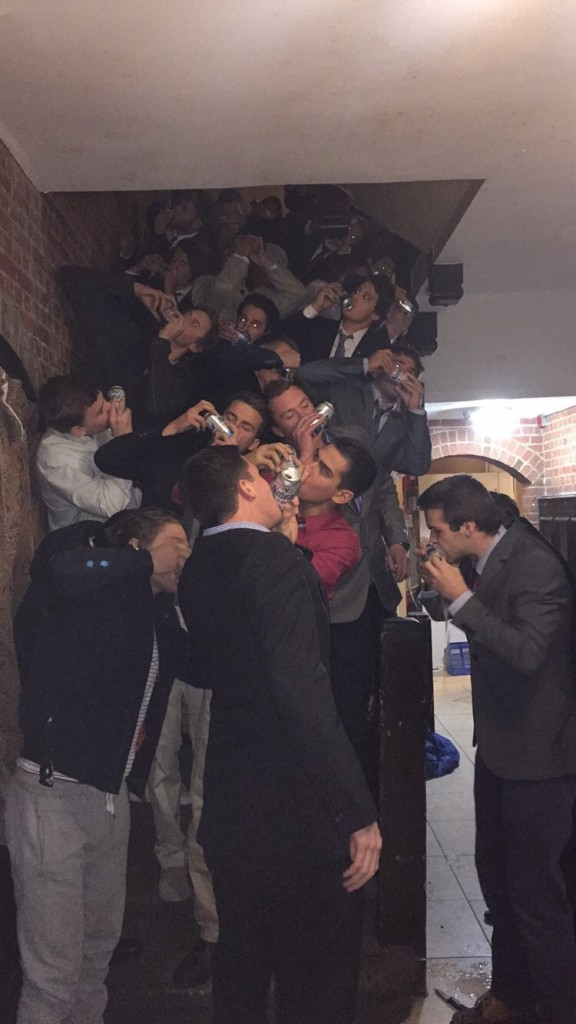 Shotgunning the cheapest beers in your most expensive suit. TFM.