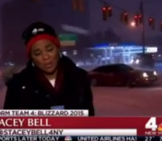 Guy Uses Live TV Report On NYC Blizzard To Show Off Sick Car Drift