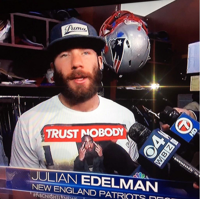Julian Edelman wearing this shirt on NBC Nightly News. TFM