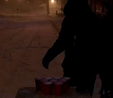 NYU FIJIs Play Beer Pong In The Street During Blizzard Because Why The Fuck Not?