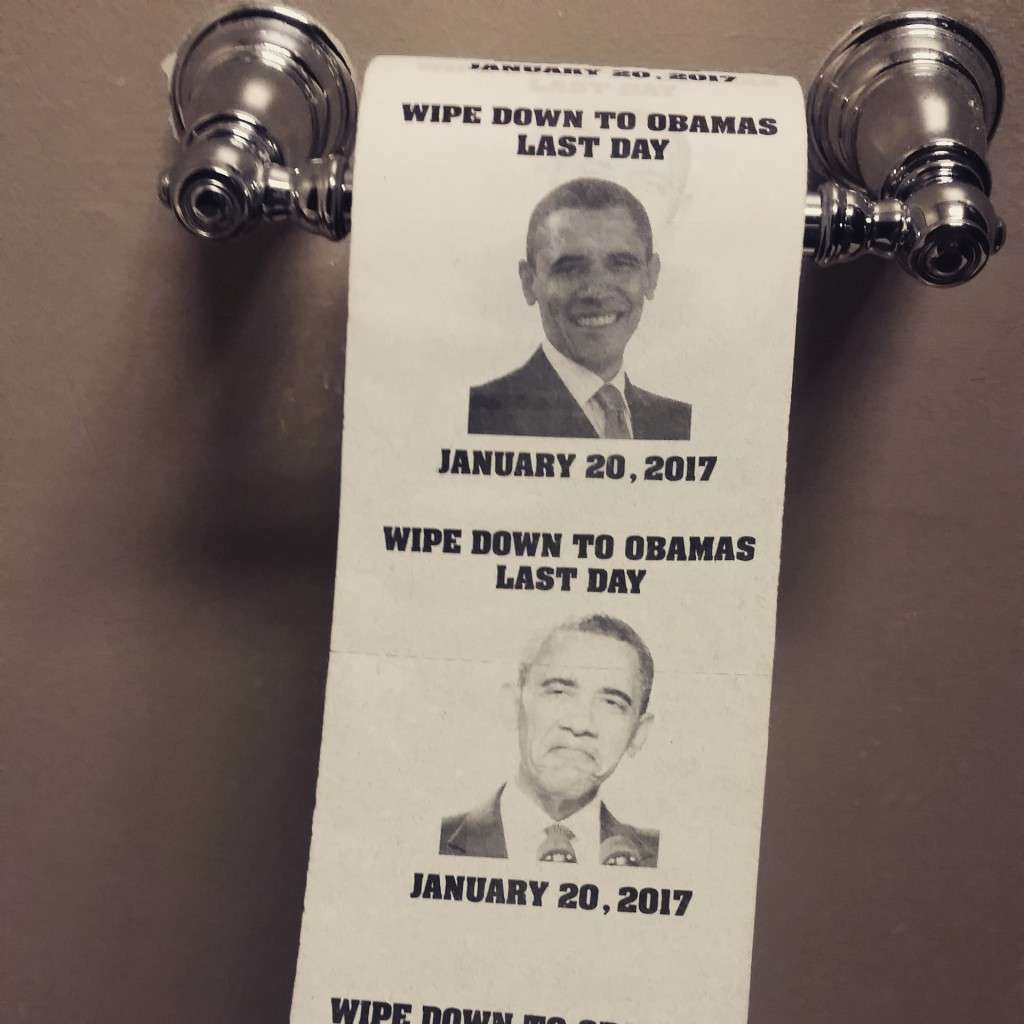 Wiping your ass with Obama's face. TFM.